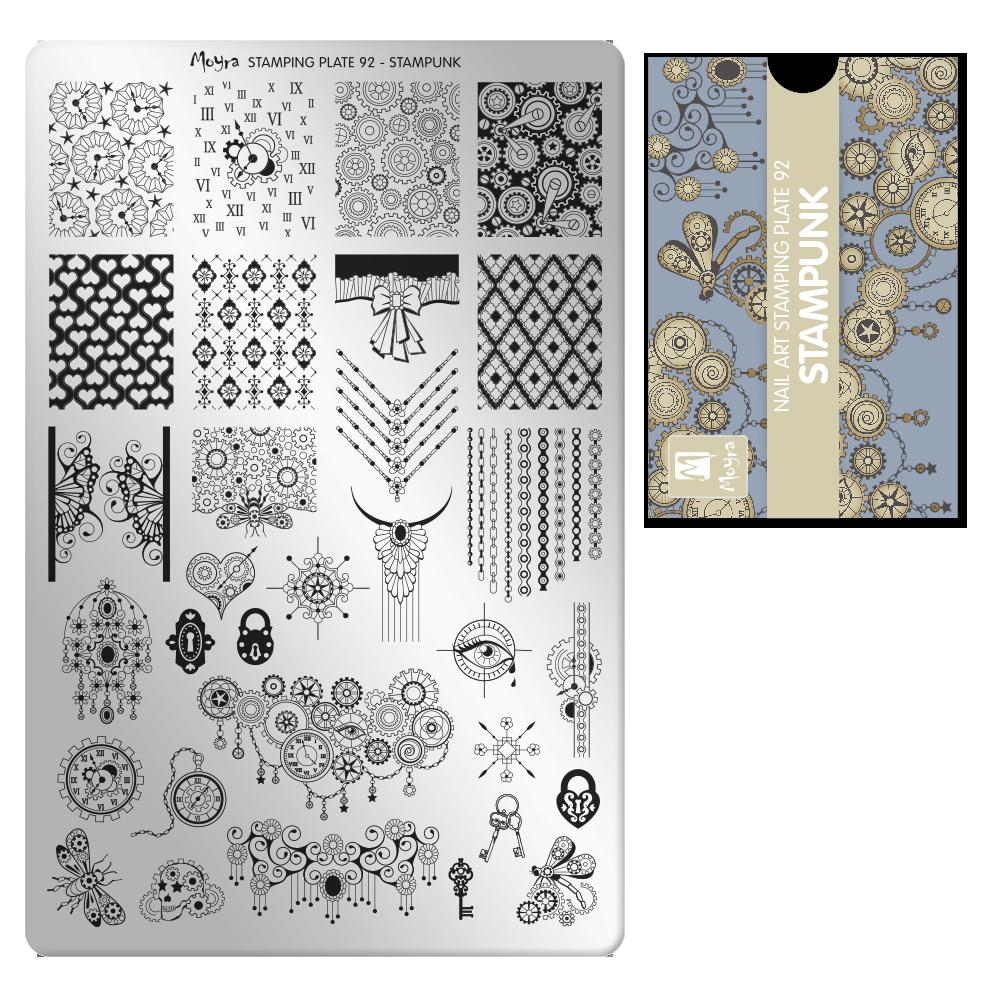 Moyra stamping plate 92 Stampunk