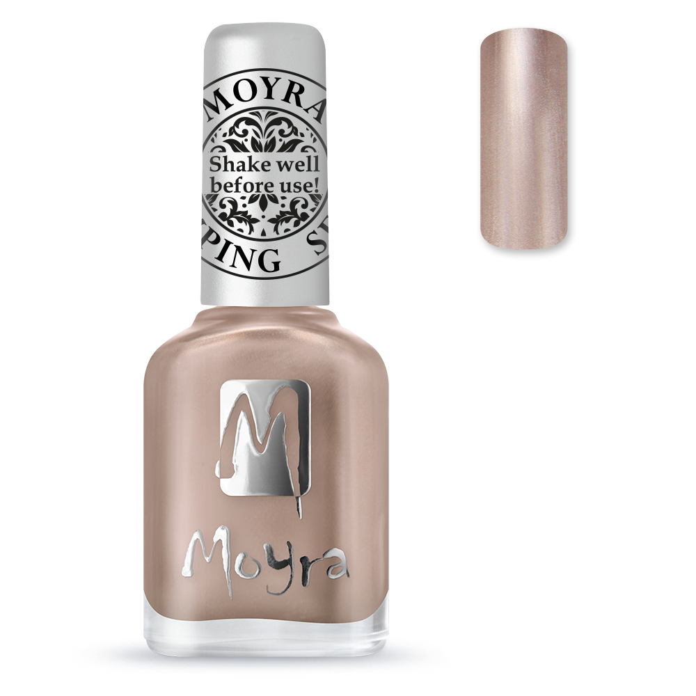 Moyra stamping nail polish Sp 34, Rose Gold