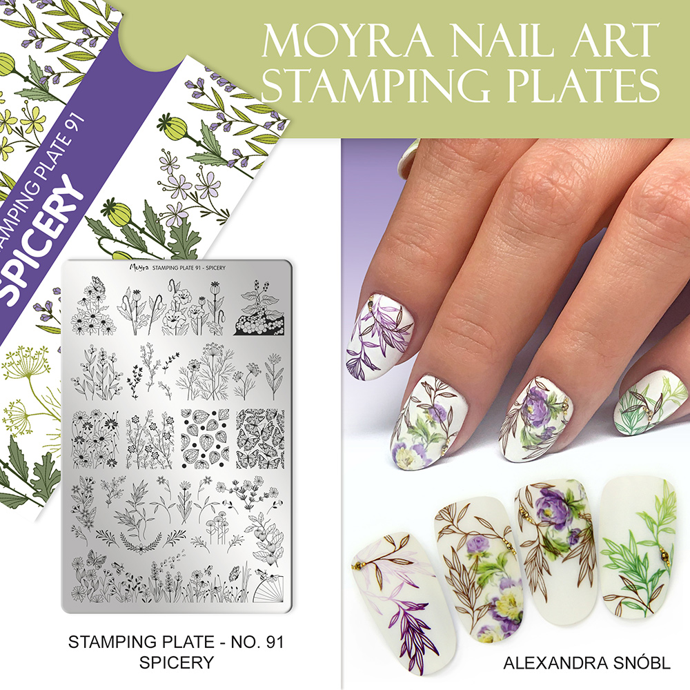 Moyra nail art stamping plate 91 Spicery