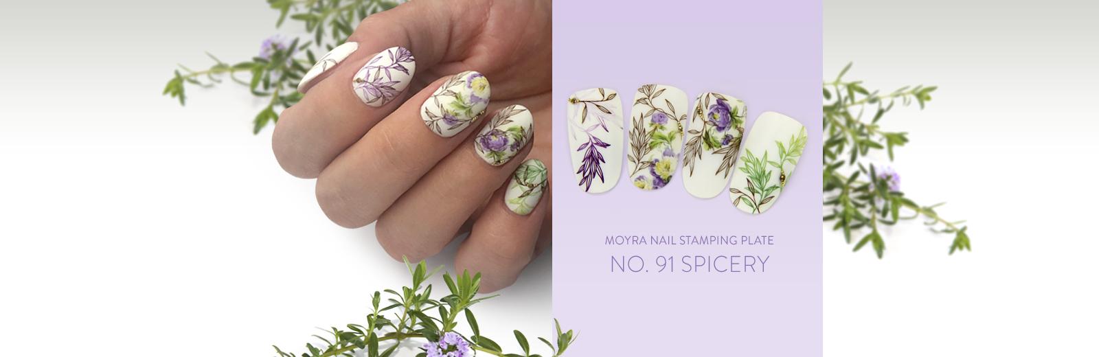 Moyra nail art stamping plate No. 91 Spicery