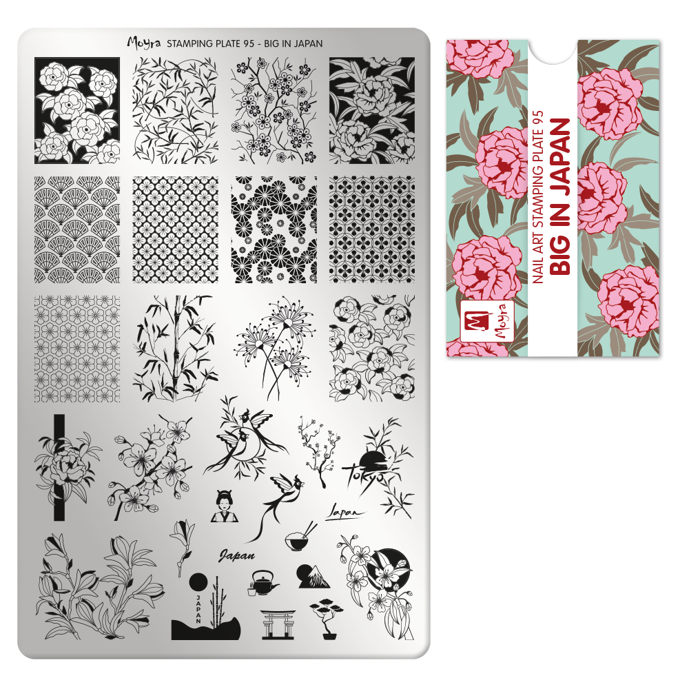 Moyra stamping plate 95 Big in Japan