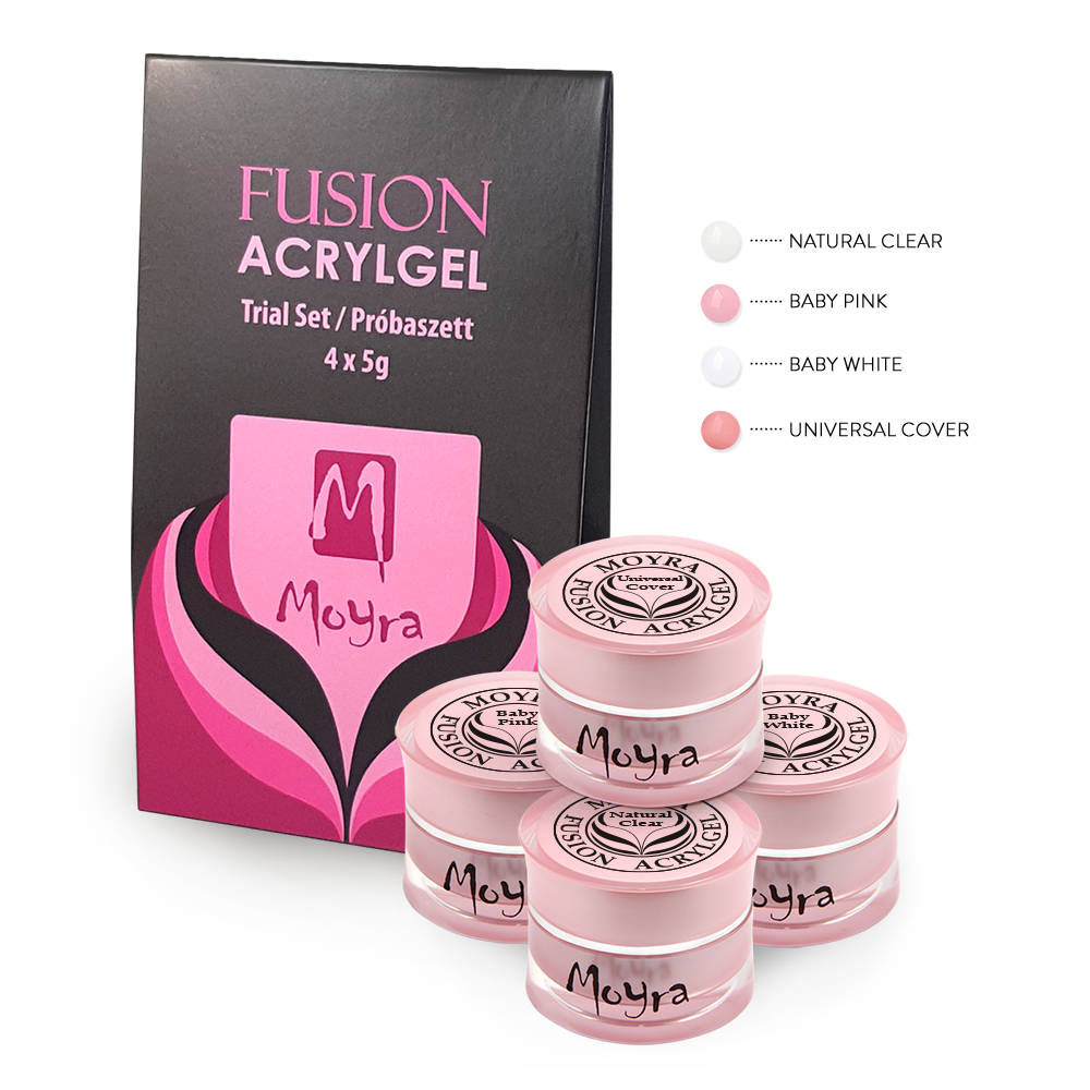 Fusion Acrylgel Baby Boomer Trial Set 4 x 5 g