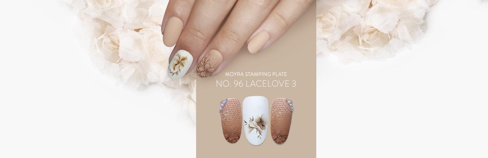 Moyra nail art stamping plate No. 96 Lacelove 30