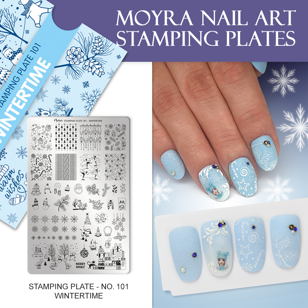 Moyra stamping plate 101 Wintertime Inspiration