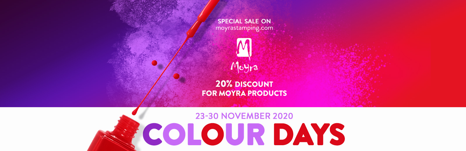 Moyra Colour Days - special sale on moyrastamping.com