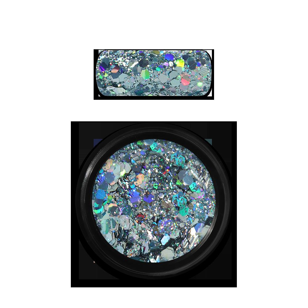 Moyra Holo glitter mix No. 09, Light blue