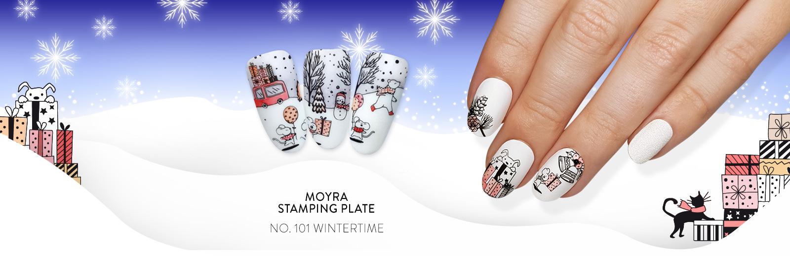 Moyra stamping plate 101 Wintertime Inspiration