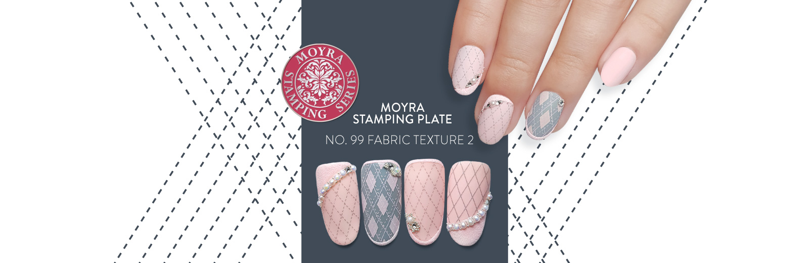 Moyra stamping plate 99 Fabric texture 2