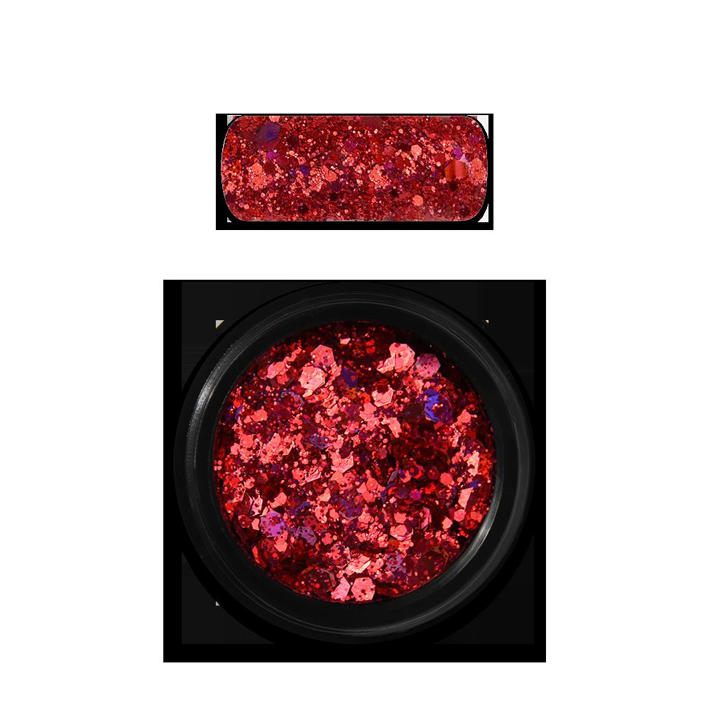 Moyra Holo glitter mix No. 11, Red