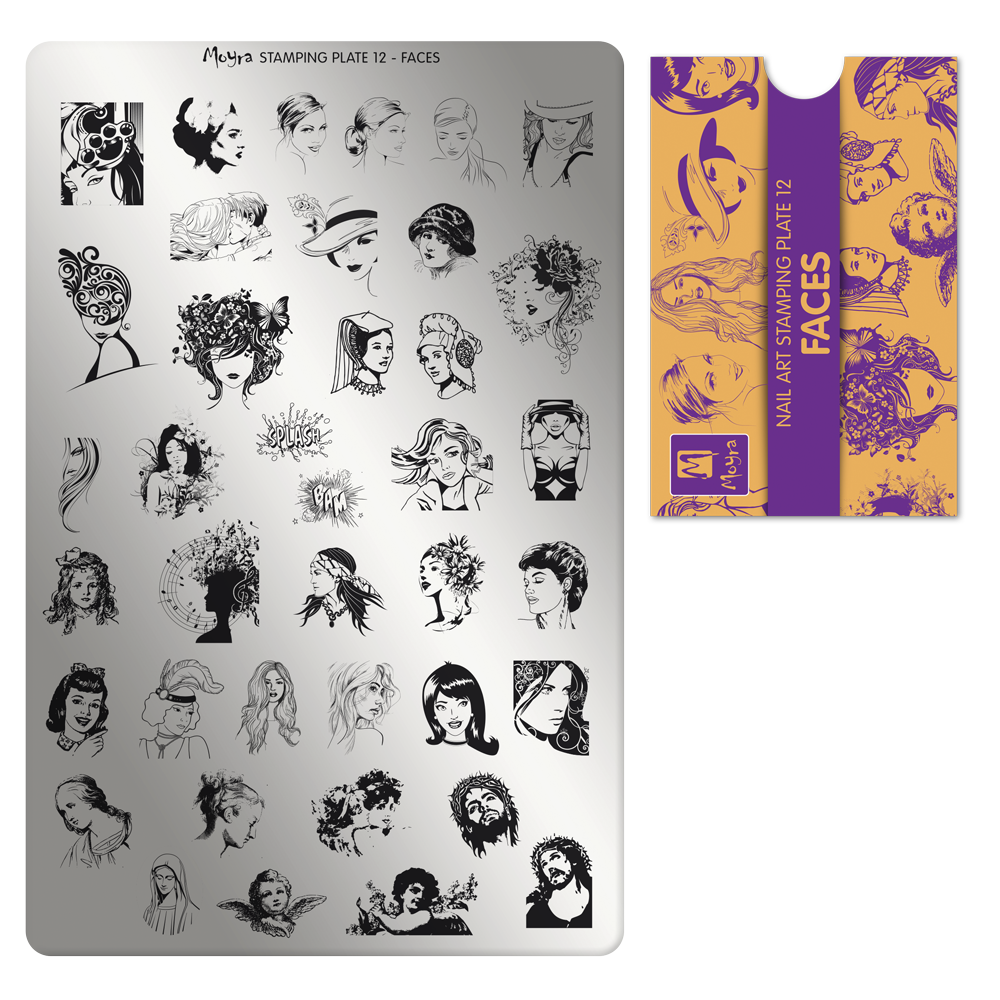 Moyra stamping plate 12 Faces