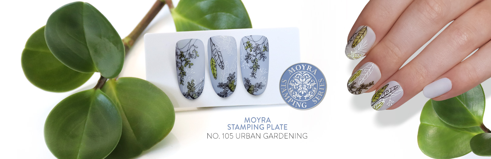 New stamping plate from Moyra! No. 105 Urban Gardening