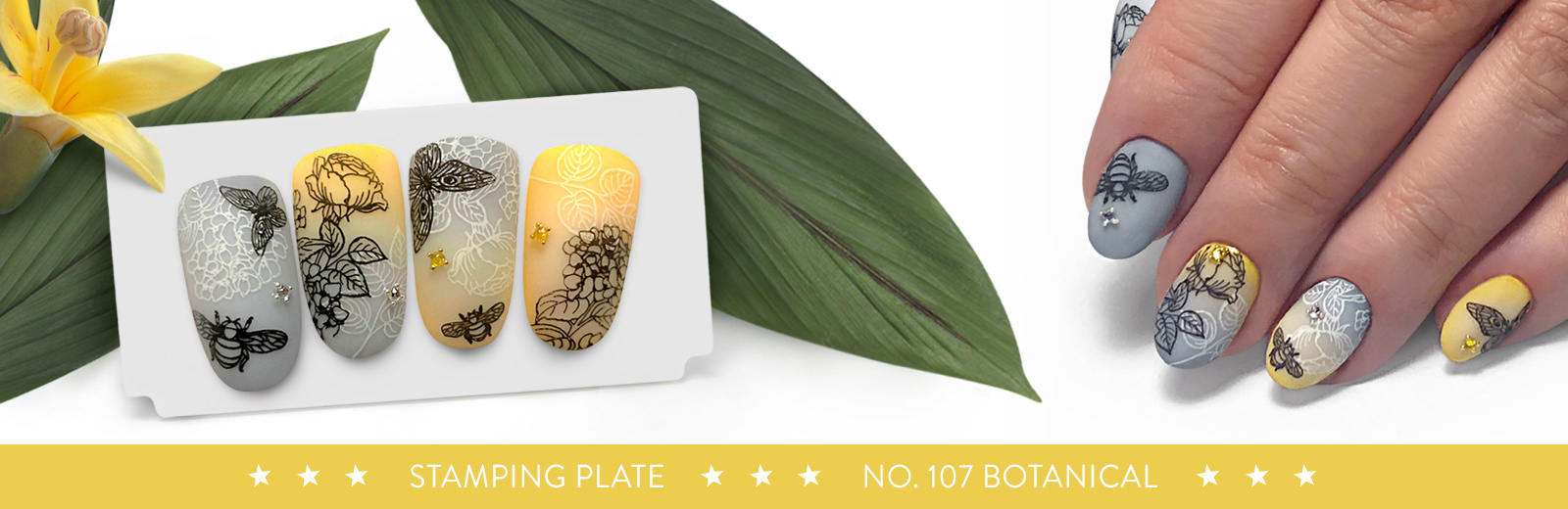 New stamping plate has arrived! No. 107 Botanical