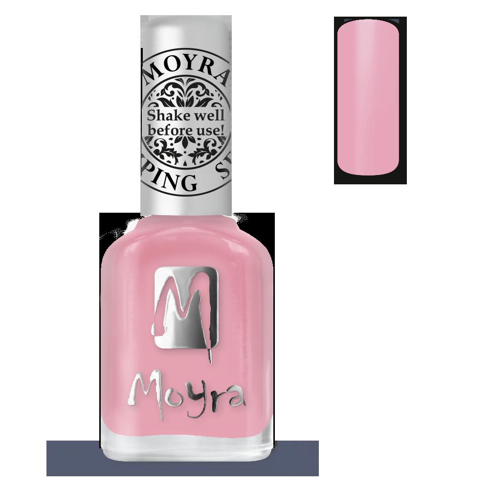Moyra stamping nail polish Sp 35, Easy mauve