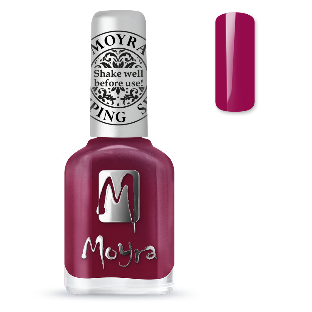 Moyra stamping nail polish Sp 40, Amaranth red