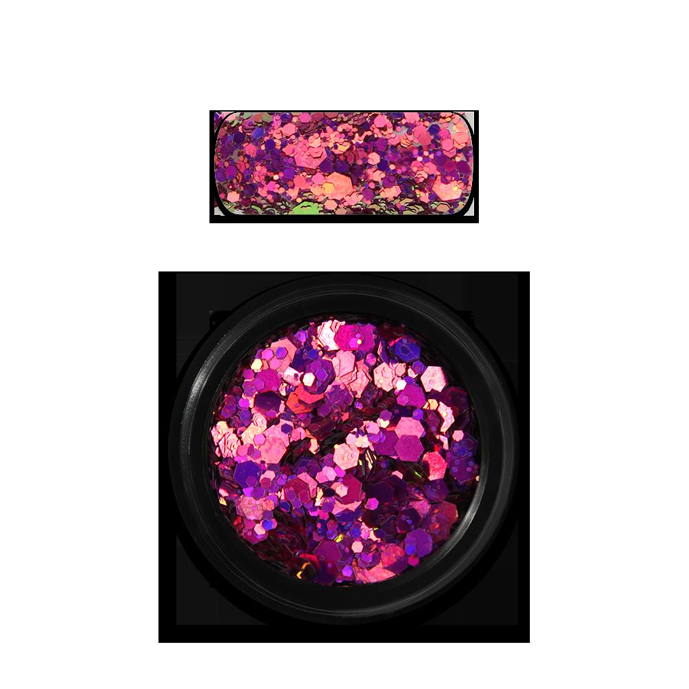 Moyra Holo glitter mix No. 13, Chameleon Pink
