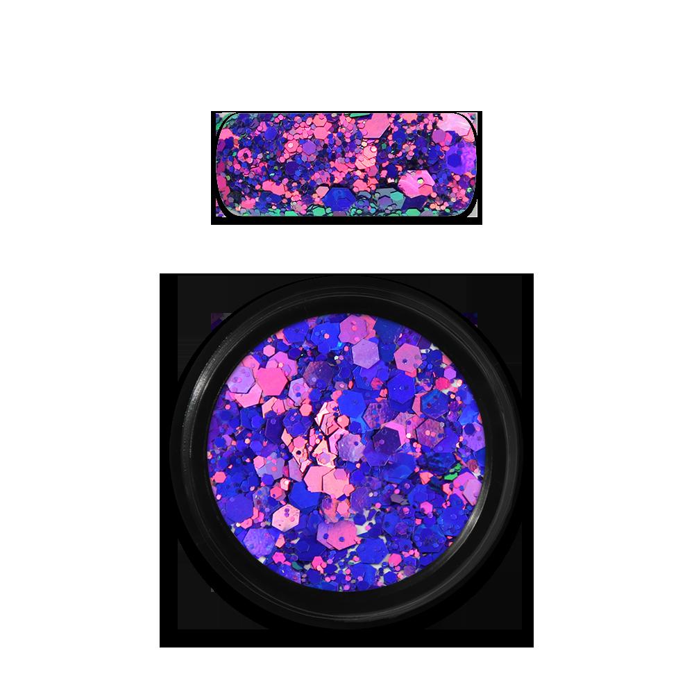 Moyra Holo glitter mix No. 15, Chameleon Purple