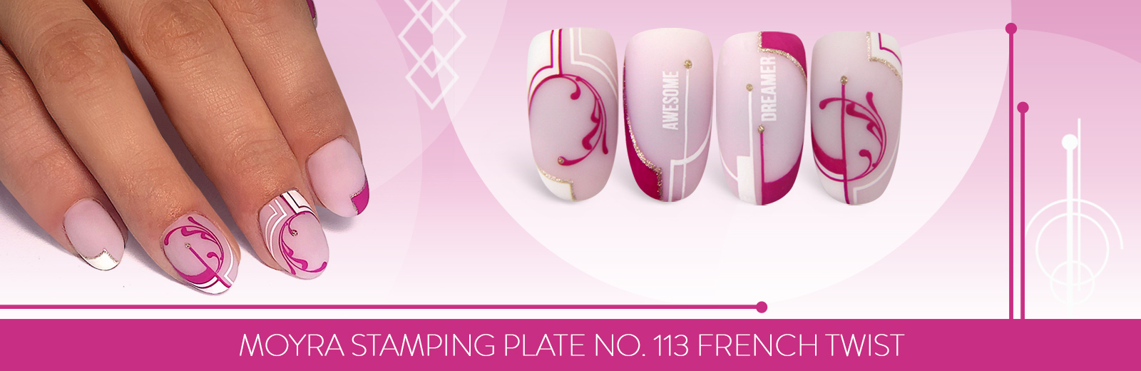 New stamping plate has arrived! No. 113 French twist